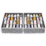 Joyoldelf - Caja de almacenamiento plegable para cajones - 2 paquetes...