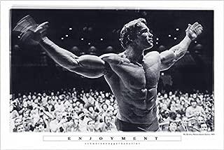 Buyartforless Enjoyment - Arnold Schwarzenegger Mr Olympia Madison Square Garden 36x24 Photograph Art Print Poster Pumping Iron