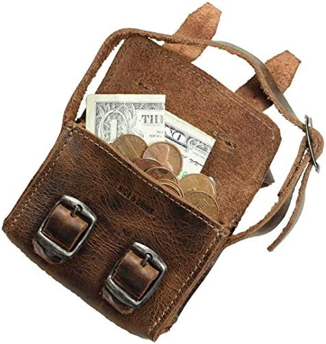 Hide Drink Leather Mini Messenger Bag Coin Pouch Cash Holder Organizer USB SD Cards Ornaments product image
