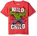 Marvel Little Boys' The Incredible Hulk Wild Child T-Shirt (Large, Red Heather)