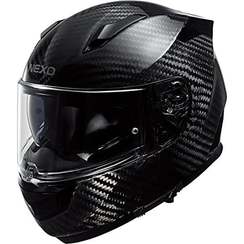 Nexo Integralhelm Motorradhelm Helm Motorrad Mopedhelm Integralhelm Carbon Sport III schwarz L, Unisex, Sportler, Ganzjährig