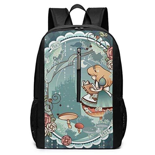 IUBBKI Mochila de 17 Pulgadas, Alice Large Laptop Bag Travel Senderismo Mochila para Hombres, Mujeres, Trabajo Escolar