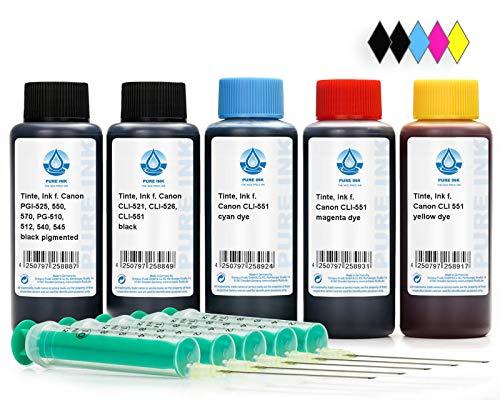 Octopus 500 ml Nachfülltinte, Druckertinte kompatibel für Canon PGI-550, CLI-551 Druckerpatronen, für Pixma IP 7200 Series, IP 7250, IP 8700 Series, IP 8750, IX 6800 Series, IX 6850, u.a, kein OEM