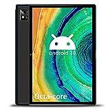 Tablet 10 Pulgadas Octa Core 6GB de RAM 128GB/512GB de ROM Android 10.0 Tablet PC Batería 7000mAh 4G LTE Tablet Baratas y Buenas Cámara 5MP WiFi,Bluetooth,GPS,Type-C,Google Play,Netflix,TF-SD(Negro)