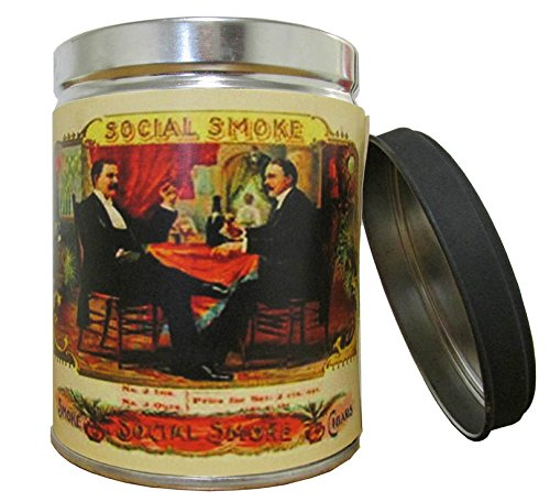 Our Own Candle Company Smoke Eliminator Scented Candle in 13 oz Tin with Vintage Social Smoke Label - Made in The USA