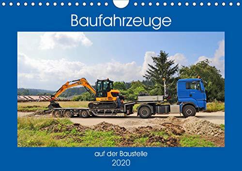 Baufahrzeuge auf der Baustelle (Wandkalender 2020 DIN A4 quer)