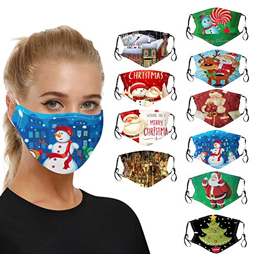 MGET Adulto Pack 10PC MASCARILLAS Adulto FACIALES DE Tela Lavable Máscaras Reutilizables de la mascarilla de la...