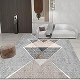 Alfombra Irregular De Impresión Geométrica Simple Moderna Alfombra De Piso Lavable Antideslizante Impermeable Gruesa Adecuada para Dormitorio Ventana Salediza Hotel