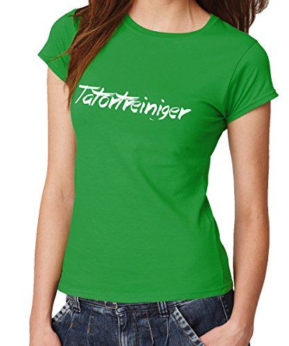 - Tatortreiniger - Girls T-Shirt Kelly Green, Größe L