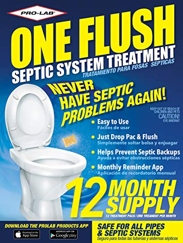 Septic Tank Treatment Packets - 1 Year Supply of Septic Treatment- Dissolvable Septic Tank Treatment Packets - Use Septic Treatment Enzymes Packets Monthly to Prevent Expensive Septic System Backups