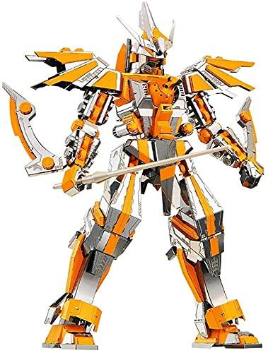 ZBRO Guerra dei trasformatori per Cybertron Metal 3D Puzzles Modelo Kit Modelo de Metal del Guerrero de la Armadura para la Cuchilla de la Media Luna Adulta P097-SY Optimus Prime