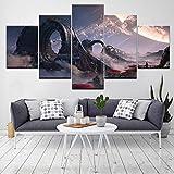 QianLei Leinwandbild Die Kunst von Titanfall 2 Wandbilder 5 Stück Modular Tapeten -30x40 30x60 30x80cm No Frame