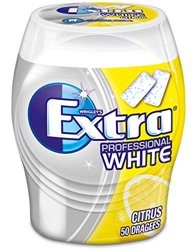 Extra Kaugummi | Professional White Citrus | Zuckerfrei | Eine Dose (1 x 50 Dragees)