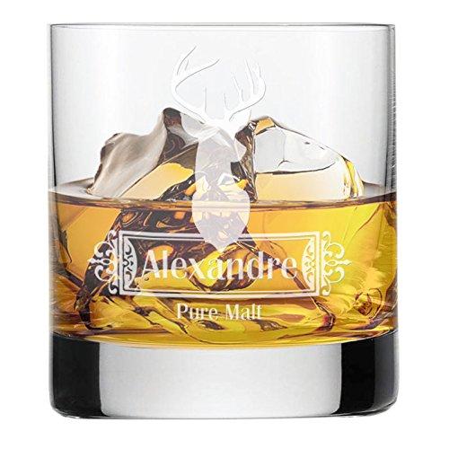 Vaso de whisky grabado con un nombre - Ciervo