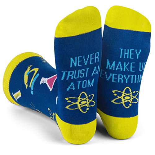 Funny Nerd Socks - Gift For Teachers, Students, Book Lovers, Math, Science Geeks (Science)