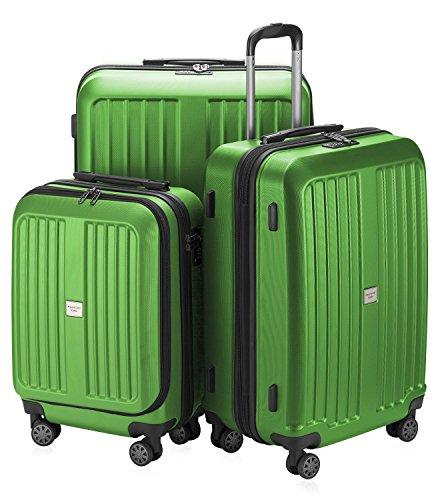 HAUPTSTADTKOFFER XBERG Set di valigie S M L MATT VERDE MELA e TSA BLOCCO