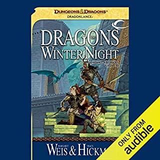 Dragons of Winter Night audiobook cover art