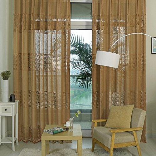 Met Love Haut de gamme en forme de dos Jacquard rideaux translucide chambre chinoise salon écrans 2 panneaux (taille : L:3.0*H:2.7m)