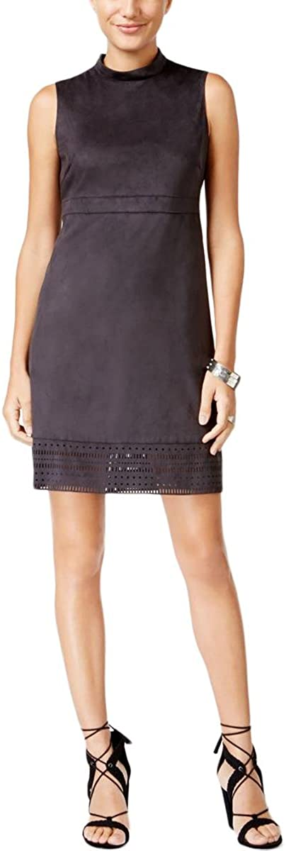 Jessica Simpson Women's Faux Suede Mock Neck Dress