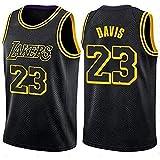 Chaleco de Baloncesto, Davis, número 23, Lakers, Verano, Jersey Swingman de Malla Bordada, Deportes de Entrenamiento, se Puede Lavar repetidamente-Black-M