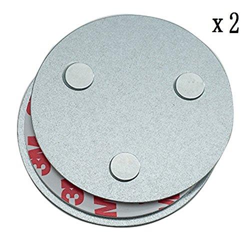 Hmtool Outil d'installation de détecteur de fumée magnétique,Fixation Rapide et Facile Kit monté au Plafond pour Alarme de fumée,sans Besoin de Forage Aucun Danger(2 Pièces)