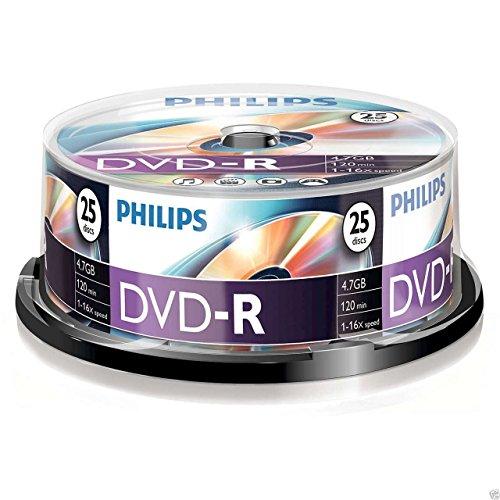 Philips DVD-R 4.7 GB - Confezione da 25