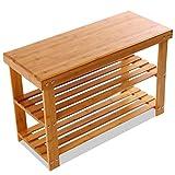XMZFQ Zapatero de bambú de 3 Niveles Organizador de Calzado Resistente El Estante de Almacenamiento Tiene Capacidad para hasta 264 LB, Ideal para Entrada Pasillo Baño Sala de Estar y Pasillo