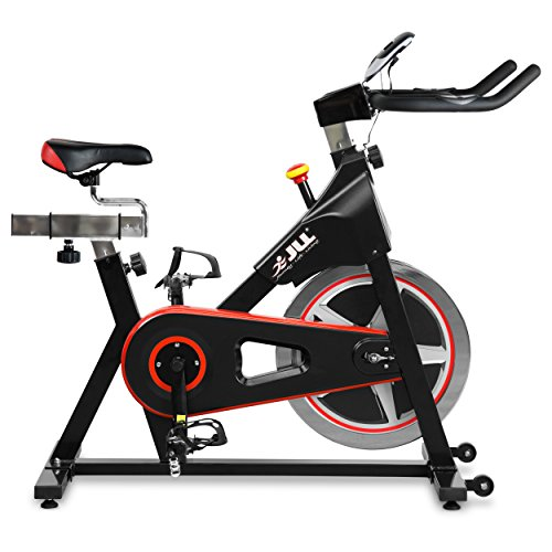 JLL® IC300 Indoor Exercise Bike 2021, Cardio Workout, 18kg Flywheel Smooth Cycling, Adjustable Handlebars & Seat, Heart Rate Sensors & 6-Function Monitor + Pulse (Black).