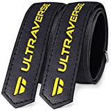 Ultraverse Bike Rack Straps, Bicycle Wheel Stabilizer for Car and Garage Wall Mount, Multipurpose Adjustable Hook and Loop Wraps with Non-Slip Silicone Gel – Set of 2