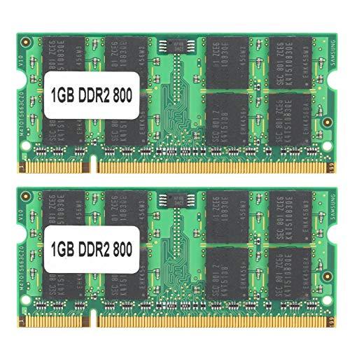 Módulo de Memoria RAM DDR2 de 2 Piezas de 1 GB a 800 MHz, módulo de Memoria de 1 GB de 16 Granos de Doble Cara Totalmente Compatible con enfriamiento rápido y Funcionamiento Estable
