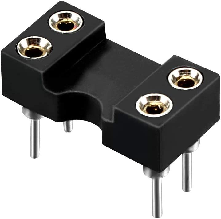 Special price for a limited time uxcell 15pcs DIP IC Chip Socket 2.54mm 7.6 Adaptor Pitch Row Ranking TOP5 Pit