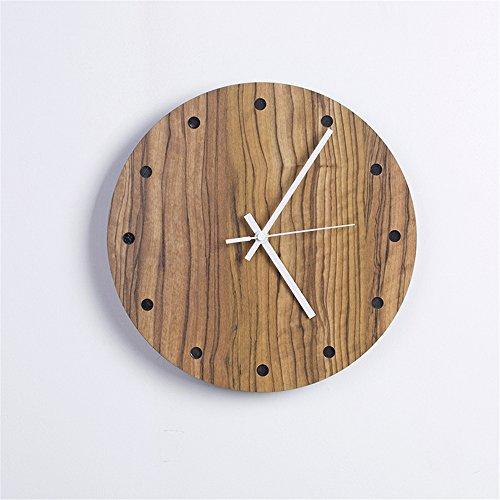 reloj de pared,reloj de pared adhesivo.Reloj de pared de madera maciza Reloj...