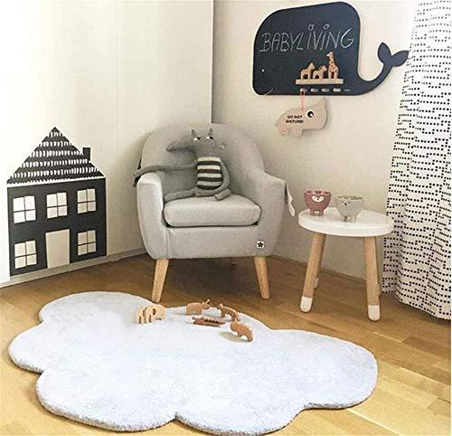 Hava Kolari Kinderzimmer Baumwolle Kinderteppich und Jugendzimmer Teppich Kinderzimmerteppich Wolkenform (Weiß)