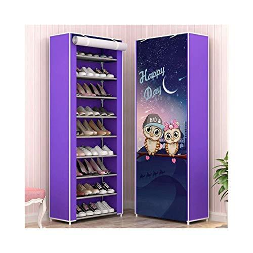 Zapatero, Zapatos a prueba de polvo Gabinete de tela de tela de lona de 10 niveles con cubierta a prueba de polvo, sostenga hasta 30 pares de zapatos, 58 x 30 x 159cm (LXWXH) (Color: B) ( Color : A )