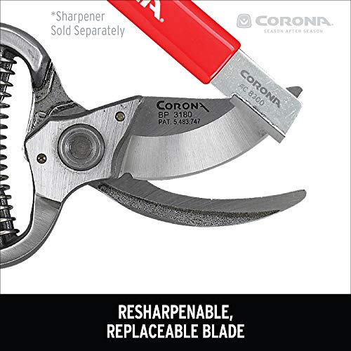 Corona BP 3180D Forged Classic Bypass Pruner with 1 Inch Cutting Capacity, 1