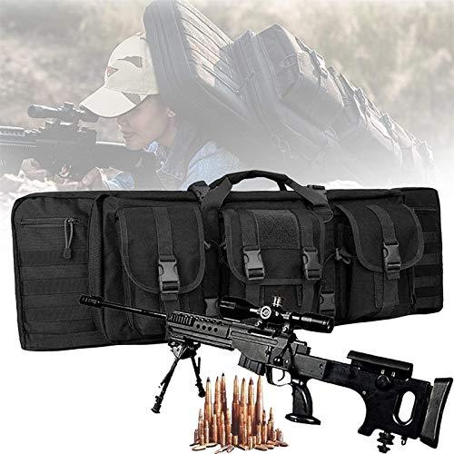 NKTJFUR Bolsa de Rifle Doble, Mochila de Airsoft con protección de Relleno Central, Caza de Caza, Funda de Transporte de Arma de Fuego, Bolsa de Pistola al Aire Libre Impermeable