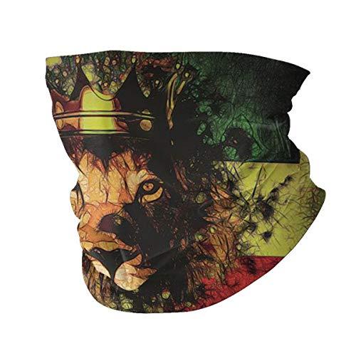 Gesichtsmaske, Kopfband, Krone, Reggae, König, Rasta, Löwe, lässig, Bandana