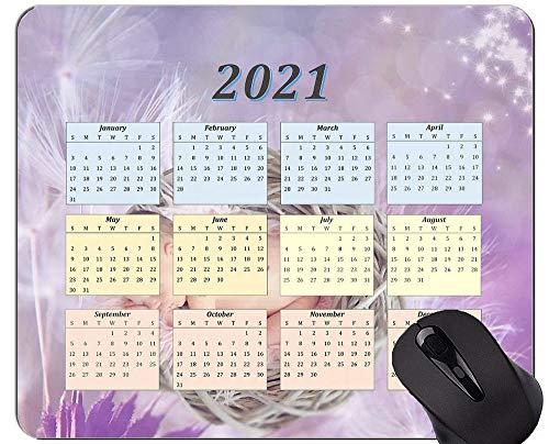 Cojín de ratón del Calendario 2021, Cojines de ratón Personalizados Diente de león del Juego del rectángulo del bebé