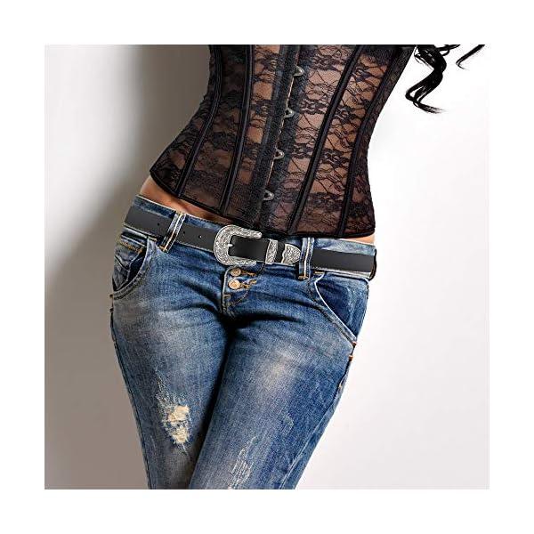 TALLEFFORT Ladies Vintage Western Leather Belt 3