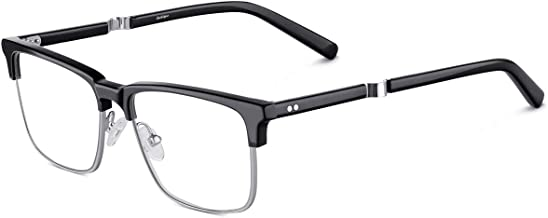 Blue Light Blocking Glasses Womens/Men,[Computer Glasses] Gaming Glasses Clear Lens Anti Glare Filter UV,Reduce Readers Eye Strain, Non Prescription,Sleep Protection,Metal Mix Acetate Frame,Gechiqno