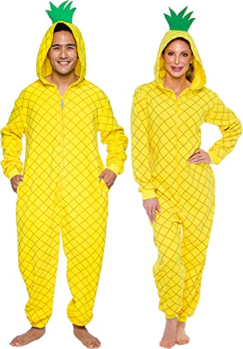 Silver Lilly Pineapple Costume - Adult Slim Onesie - Novelty Fruit...