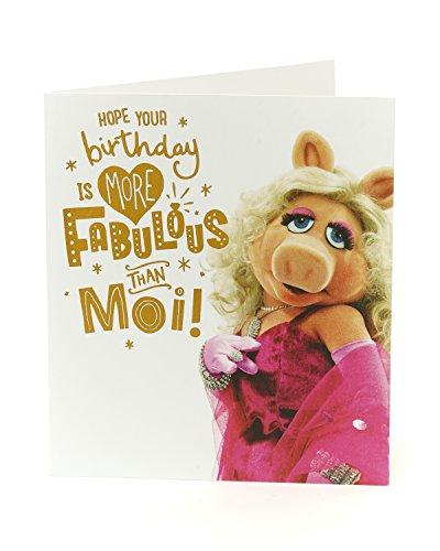 Grappige verjaardagskaart - De Muppets Verjaardagskaart Miss Piggy - Ideale cadeaubon voor Verjaardag - Cadeaus voor Vrouwen - Verjaardagskaart Vriend Vrouw - Disney