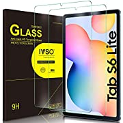 IVSO Screen Protector for Samsung Galaxy Tab S6 Lite, Clear Tempered-Glass Flim Screen Protector for Samsung Galaxy Tab S6 Lite 10.4 inch 2020, 2 Pack