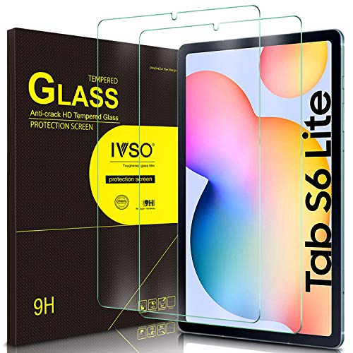 IVSO Screen Protector for Samsung Galaxy Tab S6 Lite, for Samsung Galaxy Tab S6 Lite Screen Protector, Tempered-Glass Flim Screen Protector for Samsung Galaxy Tab S6 Lite 10.4 P610/P615 2020, 2 Pack