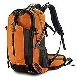 PELLOR 45L Sac à Dos Randonnée Sac d'alpinisme Trekking Plein Air Travel Backpack Multifonctionnel avec Housse Etanche Grande Capacité pour Voyage Camping (Orange)