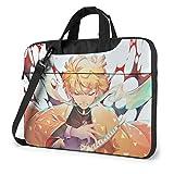 15.6 inch Laptop Bag Demon Slayer Laptop Bag Laptop Briefcase Shoulder Messenger Bag Case Sleeve