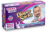 [200 Count] teeny Toes Fresh Fragrence Diaper Sacks - Waste Bag, With Tight Tie Close, Keeps The Bad Smell Away , Great For Walks, Home, Nursery, Or in cars, 1 pack