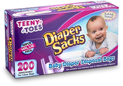 [200 Count] teeny Toes Fresh Fragrence Diaper Sacks - Waste Bag, With...