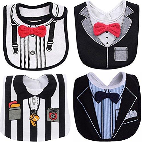 FANCYBIBS Baby Boy Girl Drool Drooling Bibs Tuxedo Bowtie Bow Neck Tie Burp Cloths Unisex (Bow Tie Soccer)
