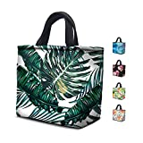 Lunch Bags For Women, Anyshock Neoprene Lunch Bag,Insulated Freezable Cute Lunch Large Tote Bag with Zipper for Women Girls Office School Picnic Outdoor (Palm Leaf)